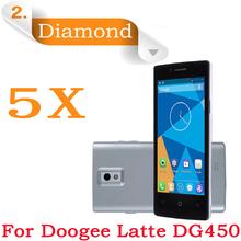 5pcs Diamond Sparkling Screen Guard phone Doogee DG450 dg450 Screen Protector 4.5″IPS Doogee Latte DG450 Diamond Protective Film