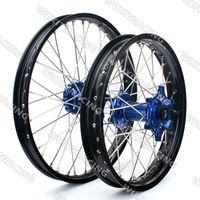 Wheel Rim Set For KTM EXC SX SXF 125 150 250 350 450 530 1.6X21 2.15X18 Black Rim with Blue hub Complete Wheel