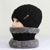Winter Wool Thick Warm Neck Warmers Hat Sets For Men&Women Outdoors Windbreak PMT044