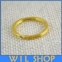 Free Shipping 100pcs Gold Plated Alloy Jump Rings Split Open key chains DIY Accessories