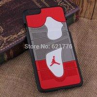 1pcs 2014 New Arrival fashion Air Jordan sneakers 4 6 7 Sole PVC Rubber Cover For iPhone 6 4.7inch jordan's Cover Capa Celular