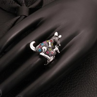 2014 Hot Sale R029-C Fashion Exaggerated vintage style with a  kangaroo design rings charms Jewelry Carving Personality rings