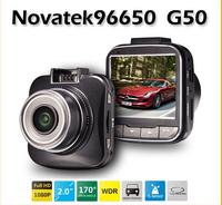 G50 Novatek 96650 car dvr full hd 1080p car camera Recorder 2.0' LCD+170degree wide angle+HDMI+built-in battery+usb+led