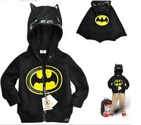 Retail-Boys child black shape coat kids hoodie sweater kids clothing