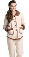 2014Men's Retro Winter Lapel Bottons Sleepwear Pajama Loungewear Suit Set   nightgown pajamas winter robe Free shipping
