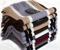 2014 Autumn Winter Tassel Scarves For Men&Women Fashion Patchwork Striped Muffler PWX139