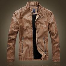 2014 New Arrivals Autumn Brand Leather Jacket Men Jaqueta Couro Masculino Bomber Leather Jacket Sheepskin Coat Motorcycle Jacket(China (Mainland))