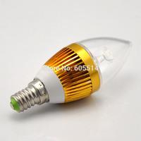 [Seven Neon]Free shipping E14 3*1W 220V white/warm white led candle bulb