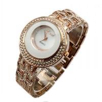 2014 Ladies Rose Gold Diamond Quartz Analog Wrist Watches Nice Gift For Women 86017