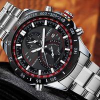 2015 Fashion Luxury Brand Men Full Steel Clock Hours Date Casual Quartz Watch Men sports Military Wrist Watches Relogio 8149