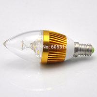 [Seven Neon]Free DHL express shipping 50pcs E14 3*1W 220V white/warm white led candle bulb