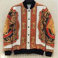 (Alice)new Fashion baseball uniform 2014 3D printed sweatshirt men's cardigans jacket Space cotton casual dress coat J35