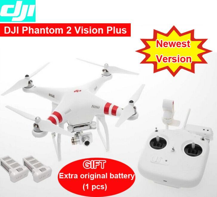 DJI Phantom 2 Vision plus with extra original Battery GPS Drone RC Quadcopter 5.8G Radio FPV Camera 3 aix gimbal via EMS(China (Mainland))