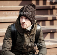 Korean version of the fall and winter influx of men twist wool hat, warm knit hats, ladies hats classic wool hat lovers
