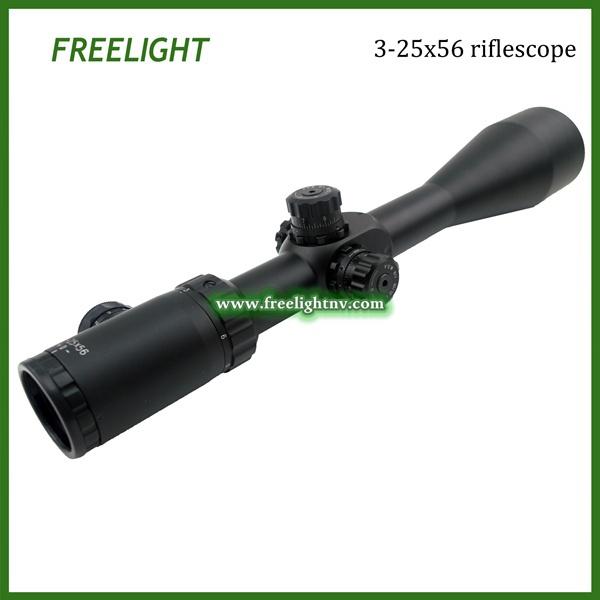 DHL Shipping Freelight Optic 3 25x56 Side Focus IR long distance shooting riflescope low light powerful