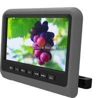 one pair 9''car headrest monitor dvd player with digital panel games IR FM USB SD