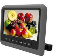 one pair 9''headrest car dvd player fm with digital panel games IR FM USB SD