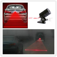 Durable Auto Anti-collision Laser Fog Lamp Anti-fog Soft Silicone Wire More Waterproof Car LED Warning Light for all Cars