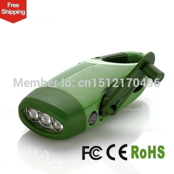 Mini Dynamo Flashlight Dynamo LEDs Hand Crank Dynamo Camping Lantern Emergency mobile phone(China (Mainland))