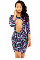 The Confetti Print Club Dress  LC21817