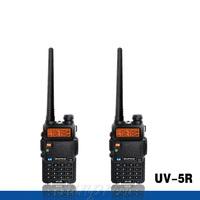 2pcs BAOFENG UV-5R Dual Band Two Way Transceiver FM Radio UV5R 128CH VHF 136-174MHz UHF 400-520MHz display walkie talkie 10km