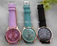 DropShipping New Fashion Leather Strap Watch Geneva Watches Women Dress Watches Quartz Wristwatch Watches