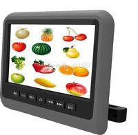 one pair 9''headrest car dvd player monitor with digital panel games IR FM USB SD