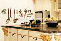 Free Shipping DIY Removable Wall Stickers restaurant /kitchen /utensils/ refrigerator Sticker Kitchen Wall Stickers