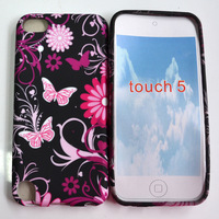 Free shipping Butterflies Flower Silicone Case Cover For iPod Touch5