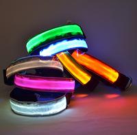 LED Nylon Pet Dog Collar Night Safety LED Light-up Flashing Glow in the Dark,Dog Collar width 2.5cm glowing dog collar
