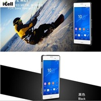 Original LOVE MEI Curved Metal Bumper Ultra Slim Hippocampal Buckle Frame For Sony Xperia Z3 L55 ,+Retail MOQ:1PCS Free Shipping