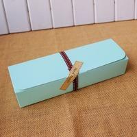 Green acaron box moon cake biscuit box 30pcs/lot