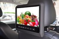 one pair 9 inch car seat back headrest dvd with digital panel  games IR FM USB SD