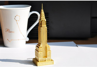 Cool metal DIY assembly model gift 3D three-dimensional puzzle Chrysler building construction