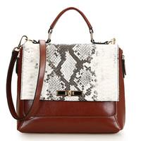 2014 New design women bag fashion serpentine pattern leather bag portable women's genuine leather handbag hot sale new hand bags