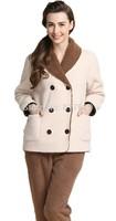 2014 Women's Double Breasted Winter Retro Sleepwear Loungewear Pajama Set  nightgown pajamas winter robe Free shipping