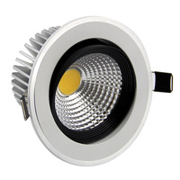 [Seven Neon]free DHL shipping high quality AC85-265V 3W  5W aluminum warm white/white LED down light for home lighting