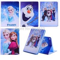 For iPad Mini 1 2,For iPad 2 3 4 Air Cartoon Frozen Princess Anna Elsa Olaf Anti-Dust PU Leather Smart Cover Case Stand