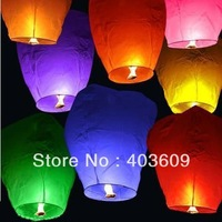 2pieces Sky Lanterns Assorted Colors Free Shipping Wholesale
