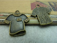 10Pcs Clothing Charms Pendant Antiuqe Bronze Tone DIY Jewelry Making