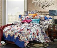100% cotton four piece bedding set satin 60 long-staple cotton quality