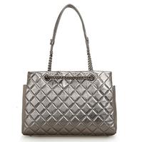 2014 plaid chain bag one shoulder cross-body women's genuine leather handbag fashion women's sheepskin shoulder bag hot big bag