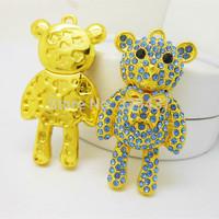 Wholesale and custom crystal Lucky Little bear usb 2.0 pen drive high speed memory card bear usb flash drive