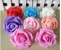 Wholesale 7 cm Rose head rose Wedding flowers artificial flowers goal arch flower arranging simulation foam manufacturers
