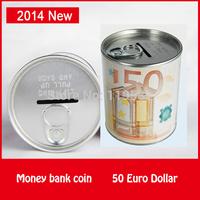50 Euro Italy Dollar Design Metal Coin Money Bank Store Simple Pen Holder Functions Money Coin Bank