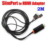 2M Full HD/3D 1080P SlimPort to HDMI MHL HDTV Adapter 2M For LG Google Nexus 4 5 7 /G2/G3/Optimus G Pro/G Flex/G pad8.3 For Asus