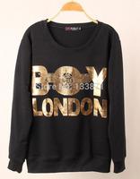 Fashion 2014 New Winter Coats casual hoodies women Brand Sweatshirts Bronzing Boy Letter Print Sport Pullover Wholesale