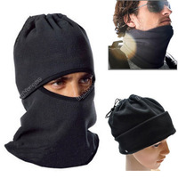 New Winter Hats Thermal Fleece Ski Caps Face Mask Great Under Bike Balaclava Hood Police Swat Skullies & Beanies Free Shipping