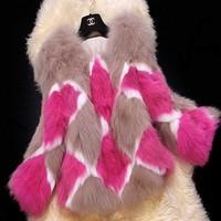 New style winter high imitation fur fox fur coat fashion coat color stitching free shipping