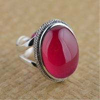 100% real pure 925 sterling silver rings luxury red corundum rings for women wedding rings resizable best gift free shipping